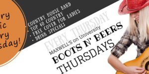 maxwells boots n beers website-everyThursday