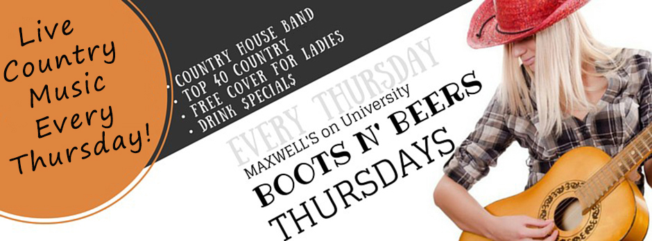 maxwells boots n beers website-everyThursday