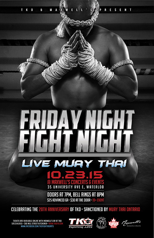 TKO-Poster Oct 23rd  sc 1 st  Maxwellu0027s Concerts and Events & TKO Friday Night Fight Night « Maxwellu0027s Concerts and Events